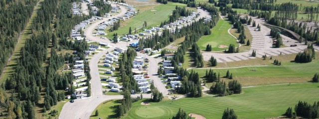 An aerial view of the RV Resort